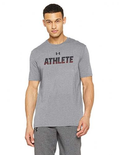Under Armour Grey Athlete Men's Short-Sleeve Logo Shirt